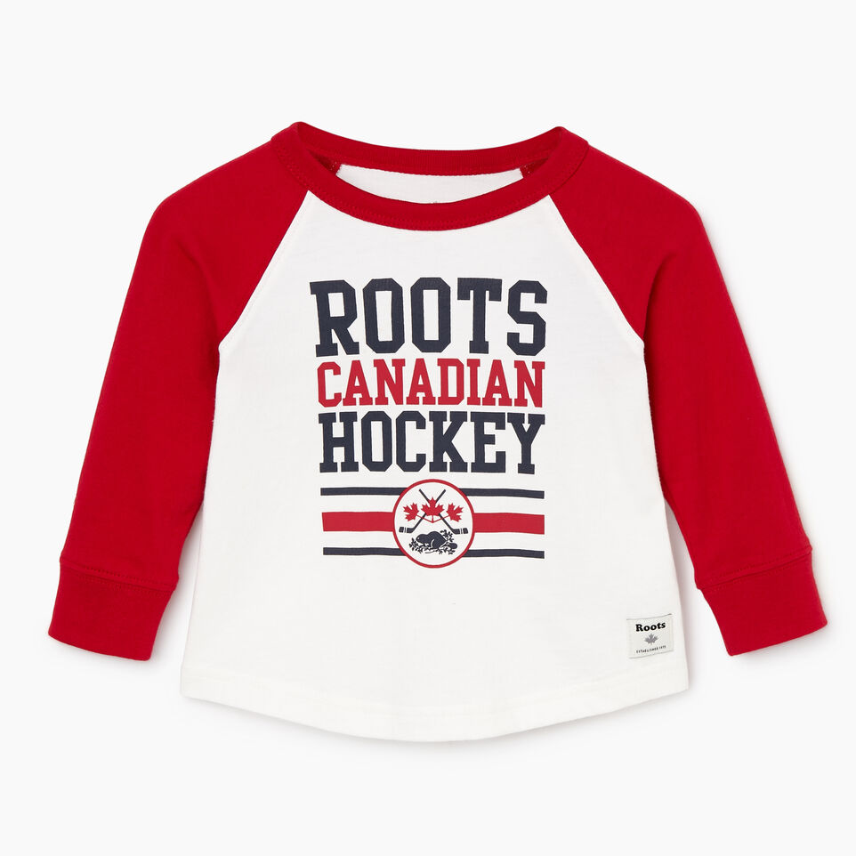 Roots-undefined-Baby Hockey Raglan T-shirt-undefined-A