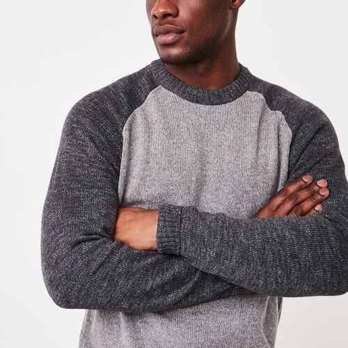 Roots-Sale Jackets & Sweaters-Montclair Raglan Crew Sweater-Medium Grey Mix-A