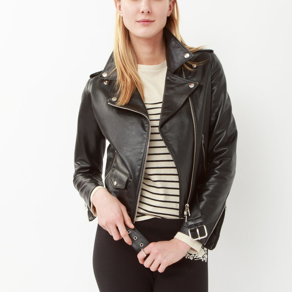 Women's Moto Jacket | Women's Leather Jackets | Roots