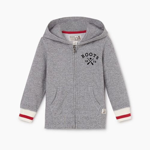 Roots-Kids New Arrivals-Toddler Cabin Full Zip Hoody-Light Salt & Pepper-A