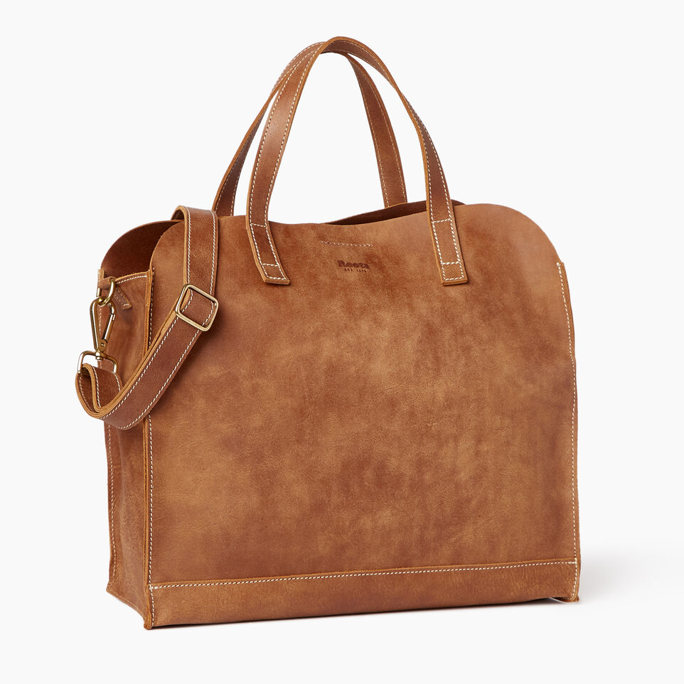 Roots-Leather Our Favourite New Arrivals-Junction Tote-Natural-A