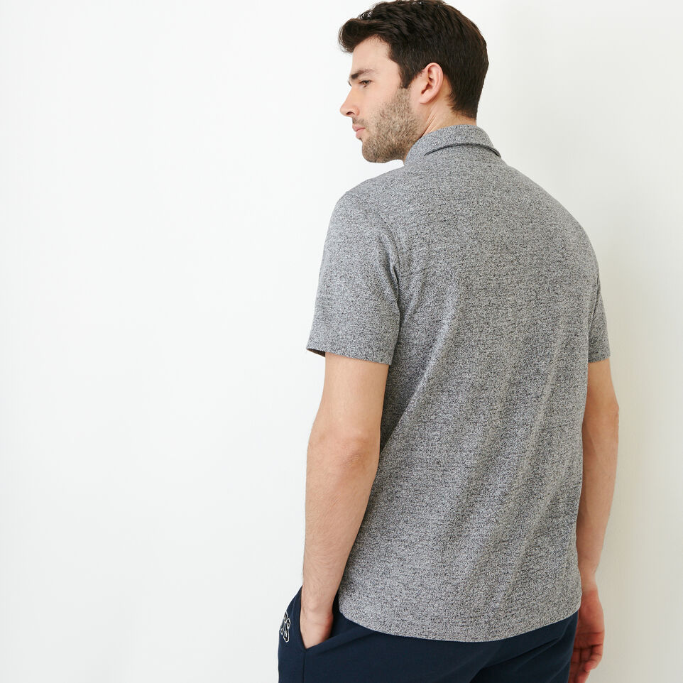 Roots-Men Our Favourite New Arrivals-Jersey Peppered Polo-Salt & Pepper-D