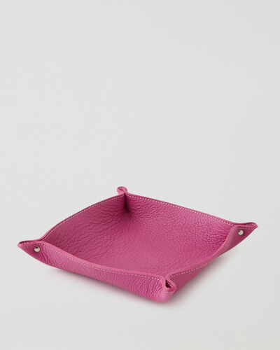 Roots-Leather Leather Accessories-Large Leather Tray Cervino-Pink Orchid-A