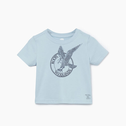Roots-Kids T-shirts-Baby Cooper Animal T-shirt-Celestial Blue-A