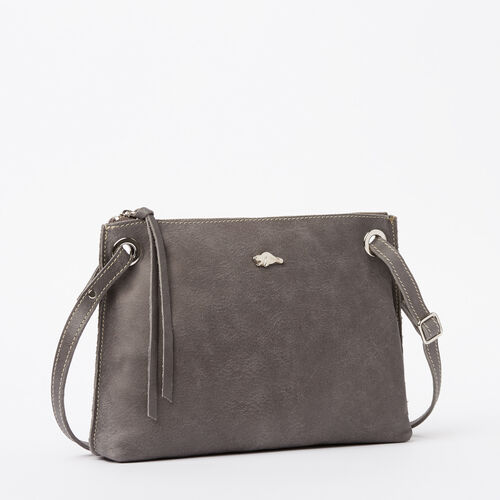 Roots-Leather Handbags-Edie Bag Tribe-Charcoal-A
