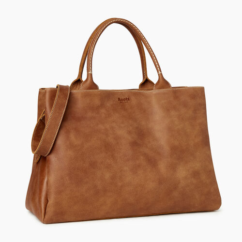 Roots-Leather Our Favourite New Arrivals-Large Mont Royal Bag-Natural-A