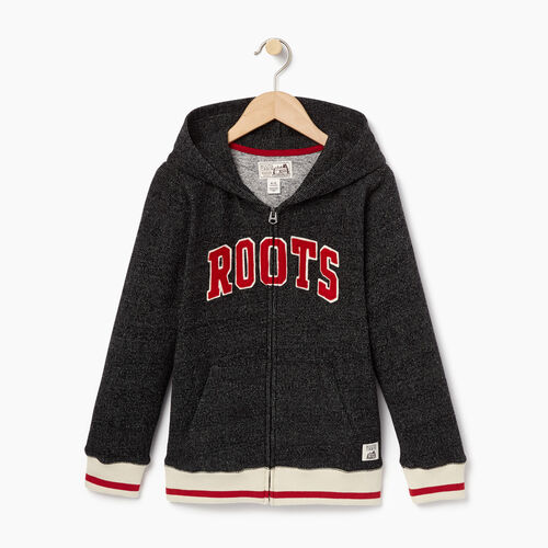 Roots-Kids Categories-Boys Roots Cabin Full Zip Hoody-Black Pepper-A