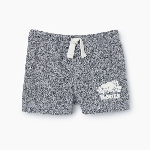 Roots-Kids New Arrivals-Baby Original Short-Salt & Pepper-A