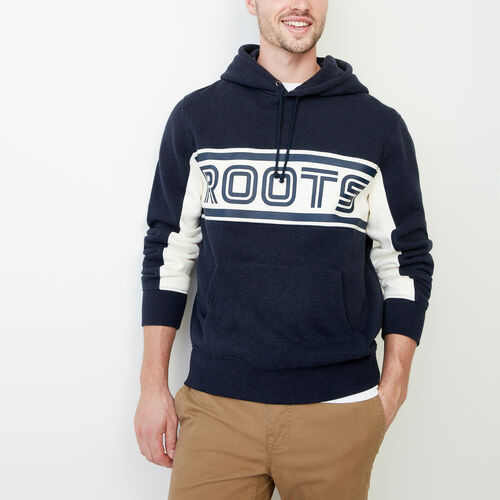 Roots-Winter Sale Men-Ribbon Kanga Hoody-Navy Blazer Mix-A