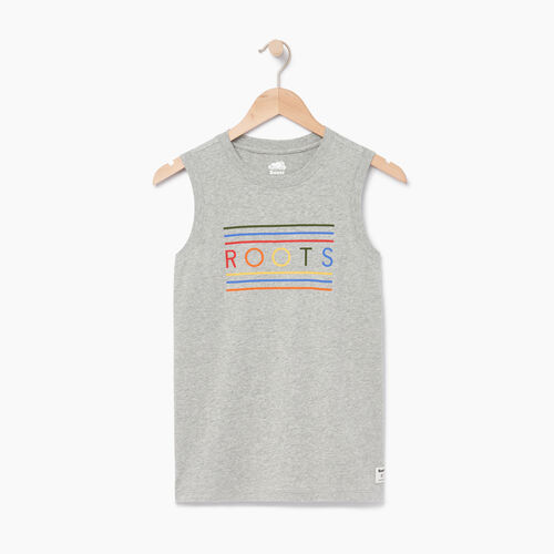 Roots-Women Tops-Rainbow Tank-Grey Mix-A