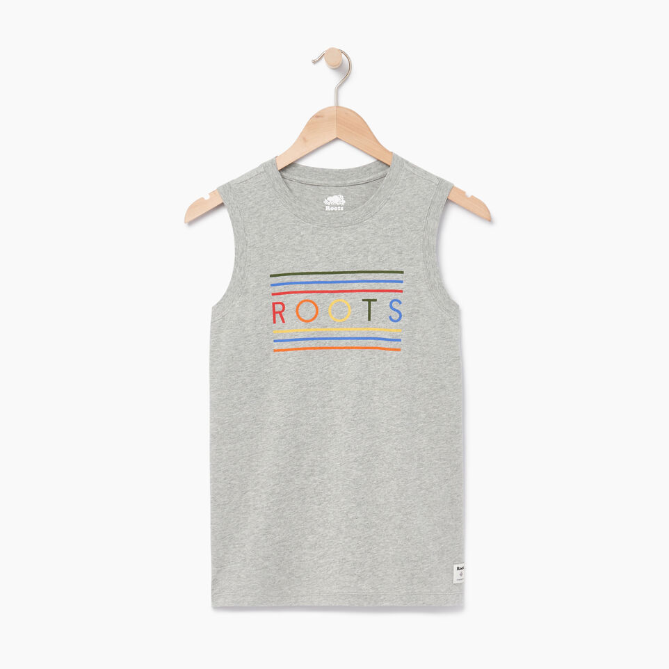 Roots-Women Our Favourite New Arrivals-Rainbow Tank-Grey Mix-A