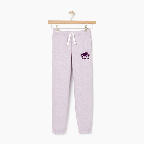 Roots-Clearance Kids-Girls Original Roots Sweatpant-Lupine Mix-A