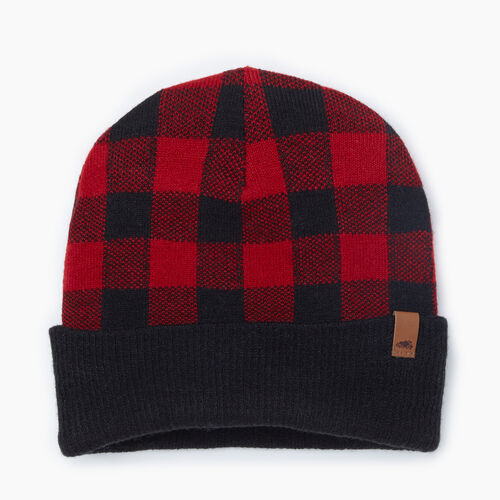 Roots-New For November Men-Roots Park Plaid Toque-Cabin Red-A