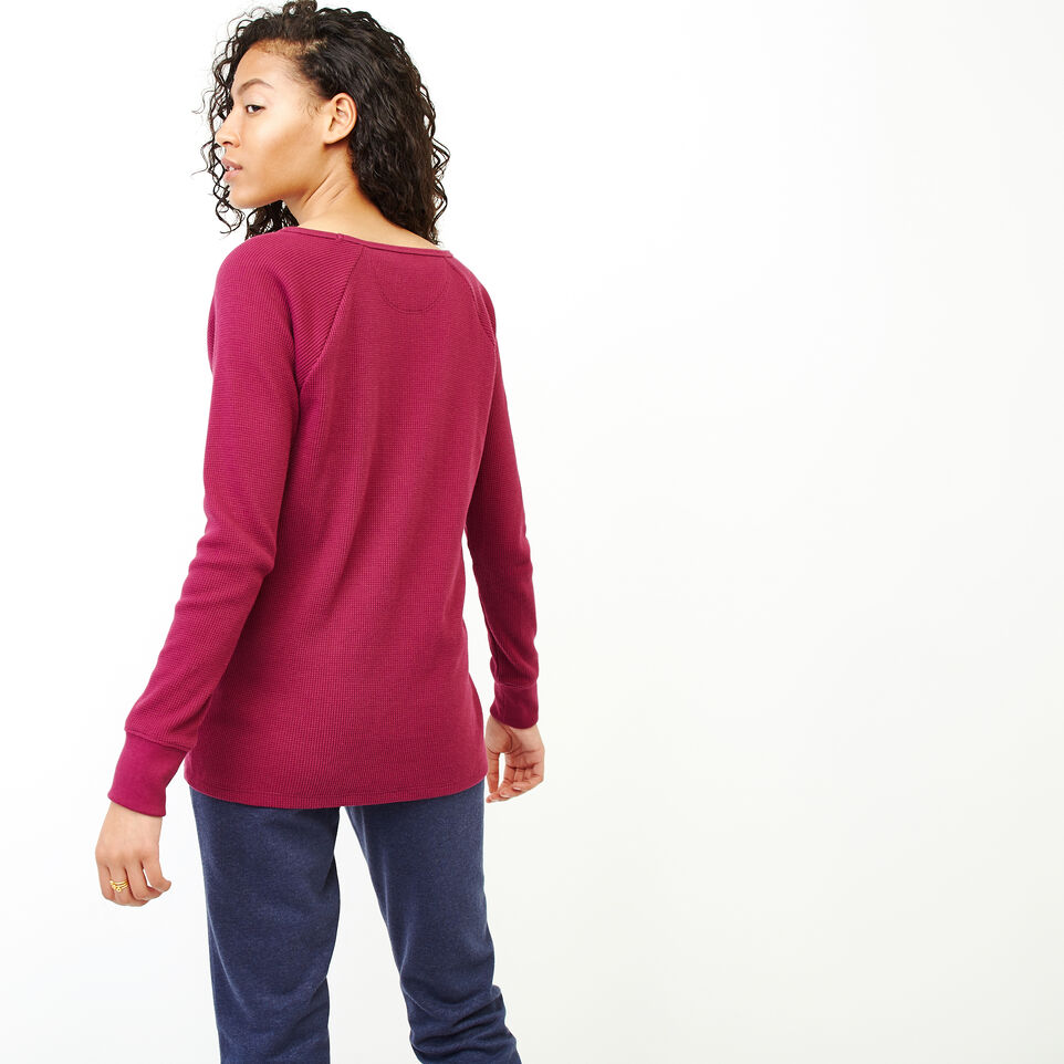 Roots-Women Clothing-Kinuso Henley Top-Purple Potion-D