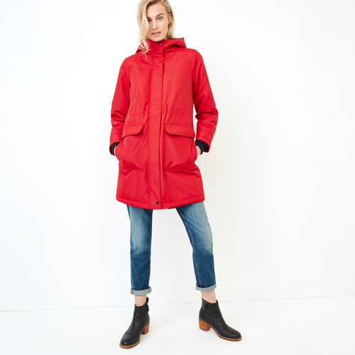 Roots-Women Outerwear-Roots Sustainable Parka-Cabin Red-A