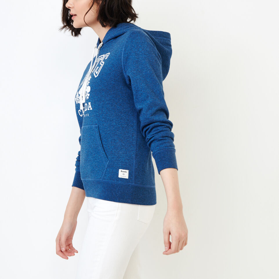 Roots-Women Tops-Classic Kanga Hoody-Olympus Blue Mix-C