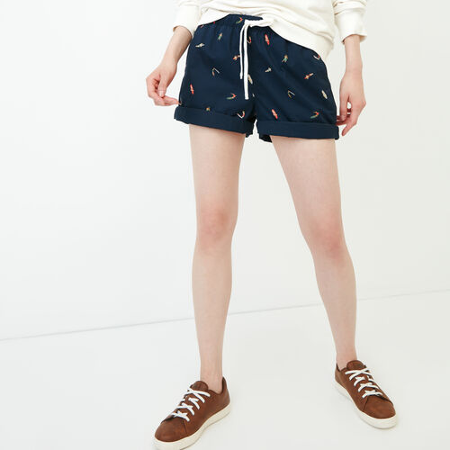 Roots-Women Bottoms-Woodland Short-Nautical Navy-A