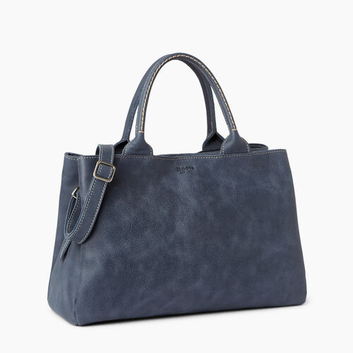 Roots-Leather Shoulder Bags-Mont Royal Bag-Navy-A