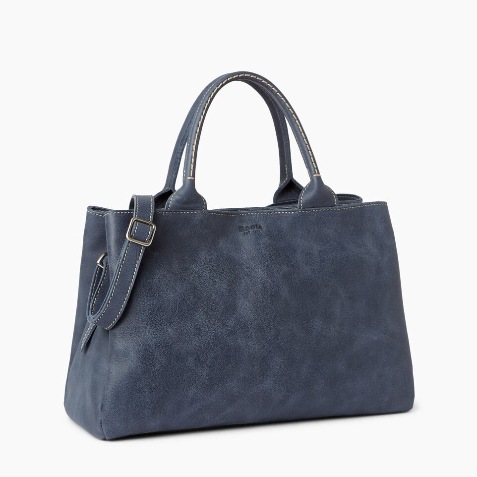 Roots-Leather Categories-Mont Royal Bag-Navy-A