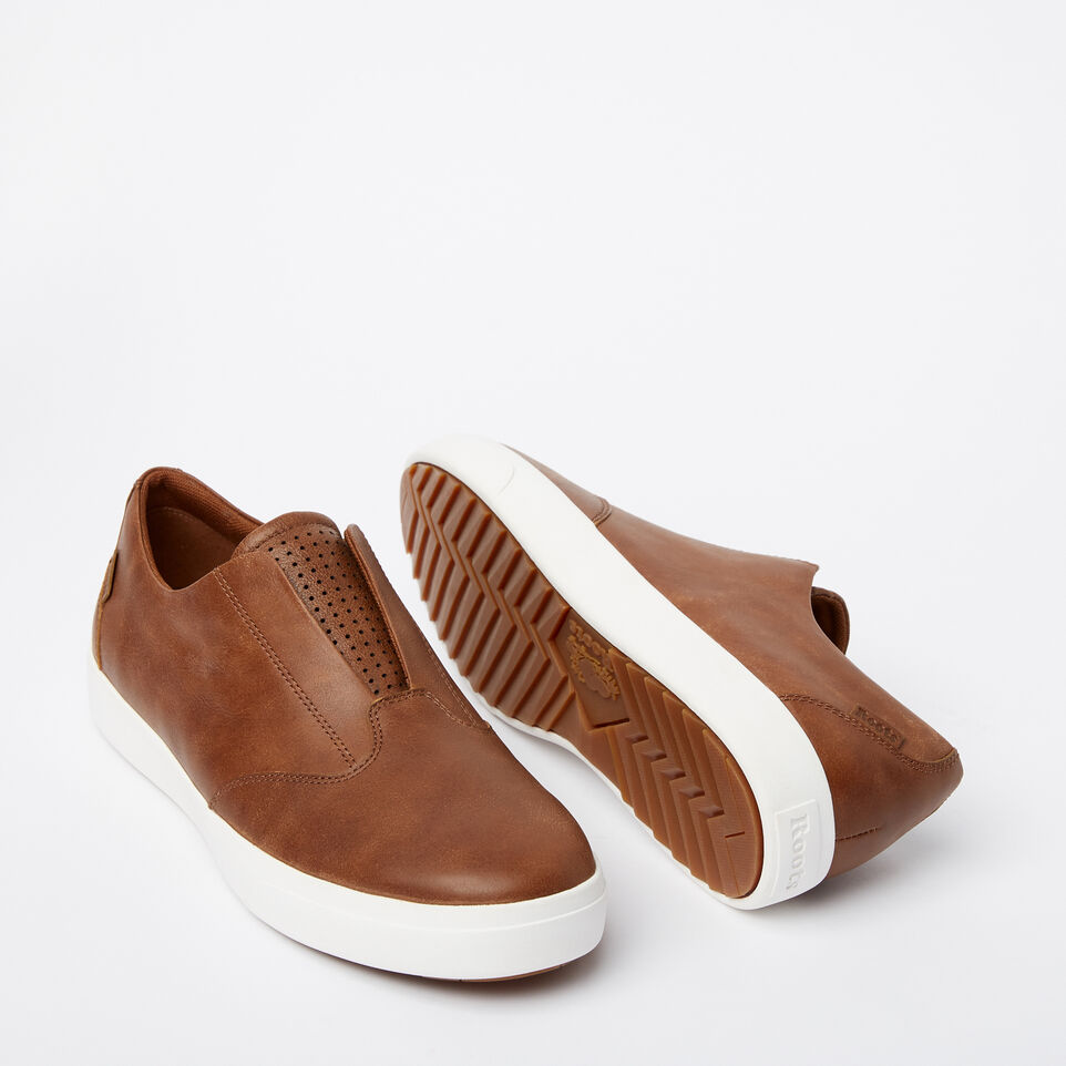 Roots-Sale Footwear-Mens Valley Slip On-Natural-E