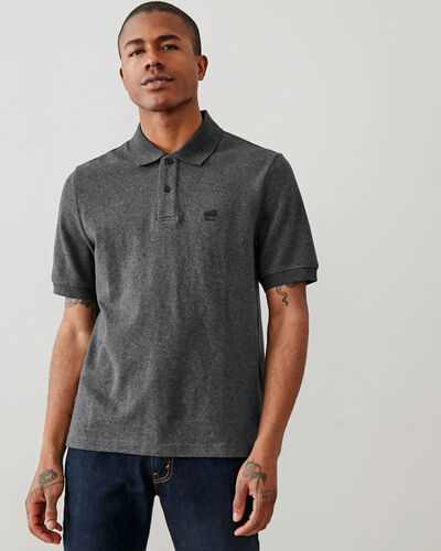 Roots-Men Clothing-Heritage Pique Polo-Black Pepper-A