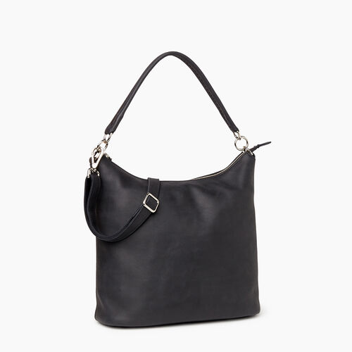 Roots-Leather  Handcrafted By Us Our Favourite New Arrivals-Ella Bag-Jet Black-A