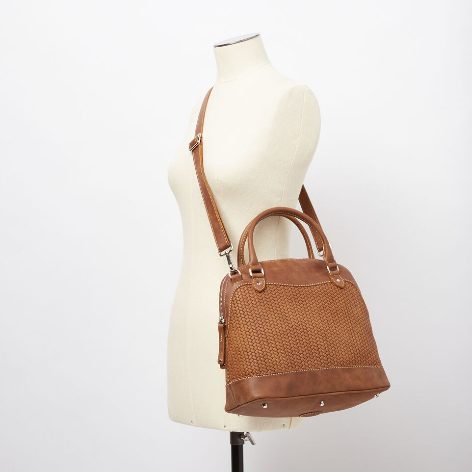 Roots-undefined-Sac Cafe en cuir tressé Tribe-undefined-B
