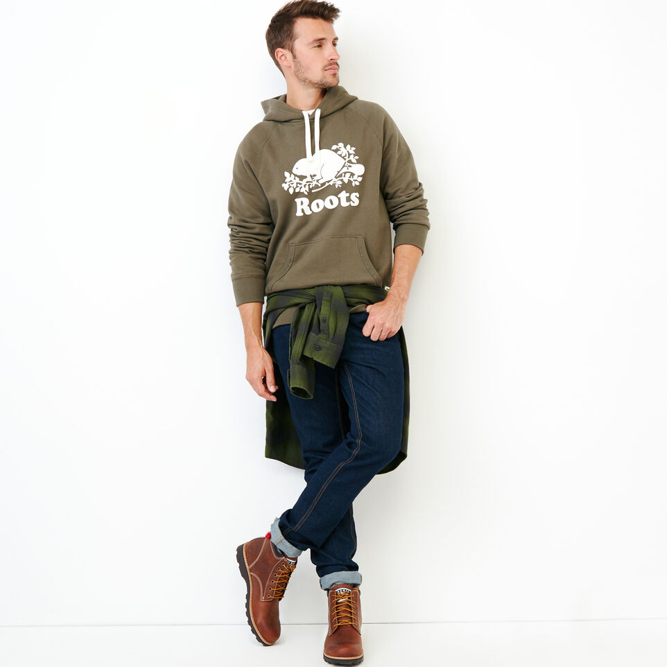 Roots-Men Our Favourite New Arrivals-Original Kanga Hoody-Fatigue-B