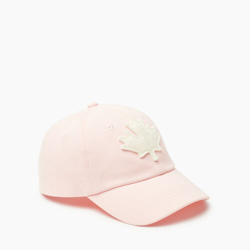 Roots-Kids Accessories-Kids Canada Baseball Cap-Pink-A
