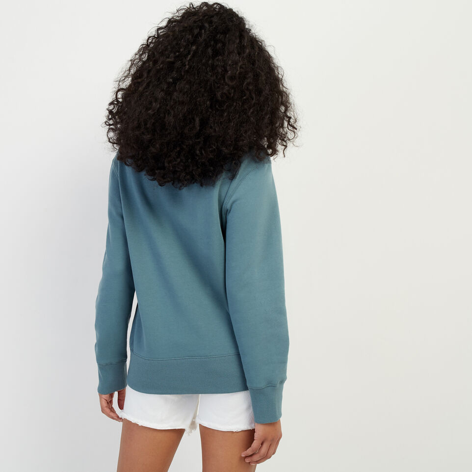 Roots-New For March Rba Collection-RBA Boyfriend Crew Sweatshirt-North Atlantic-D