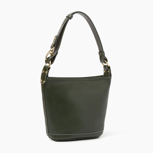Roots-Women Shoulder Bags-Feed Bag Heritage-Hunter Green-A