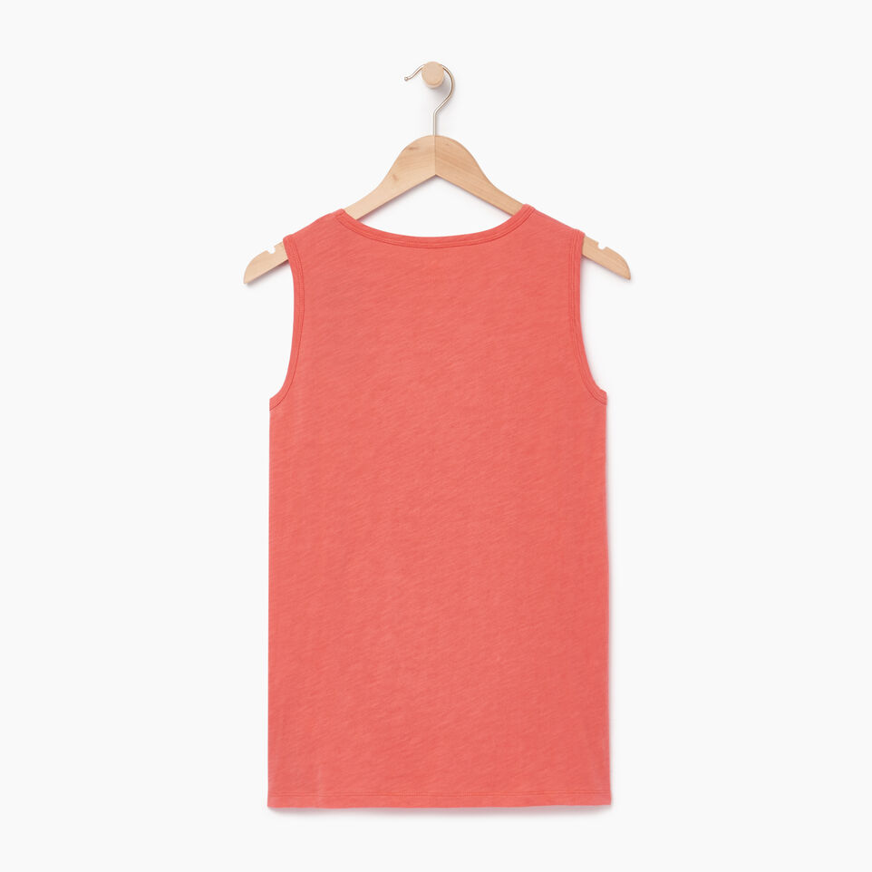 Roots-Women Clothing-Cooper Beaver Muscle Tank-Spiced Coral-B