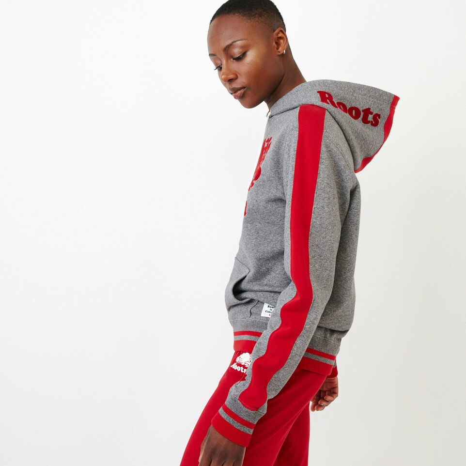Roots-New For August Canada Collection By Roots™-Canada Kanga Hoody-Grey Mix Pepper-C
