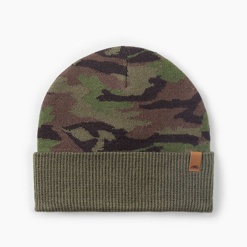 Roots-Men Accessories-Camouflage Toque-Green Camo-A
