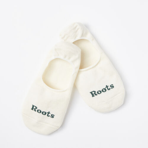 Roots-Men Socks-Mens No Show Sock 2 Pack-White-A