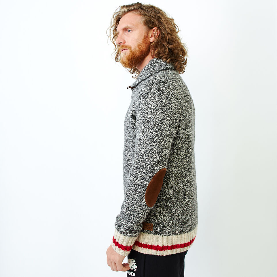 Roots-Men Our Favourite New Arrivals-Roots Cabin Shawl Pullover Sweater-Grey Oat Mix-C