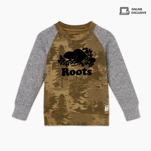 Roots-Kids Tops-Toddler Outdoors Crew Sweatshirt-Multi-A
