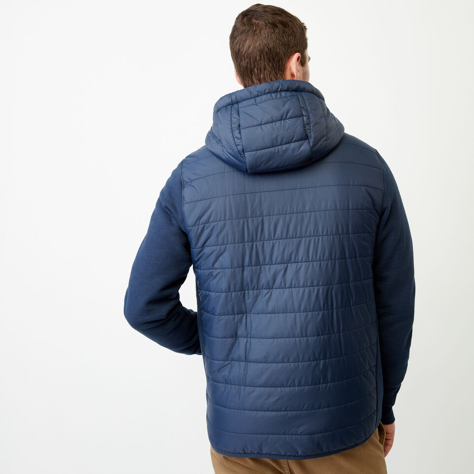 Roots-New For July Daily Offer-Roots Hybrid Hooded Jacket-Navy Blazer-D