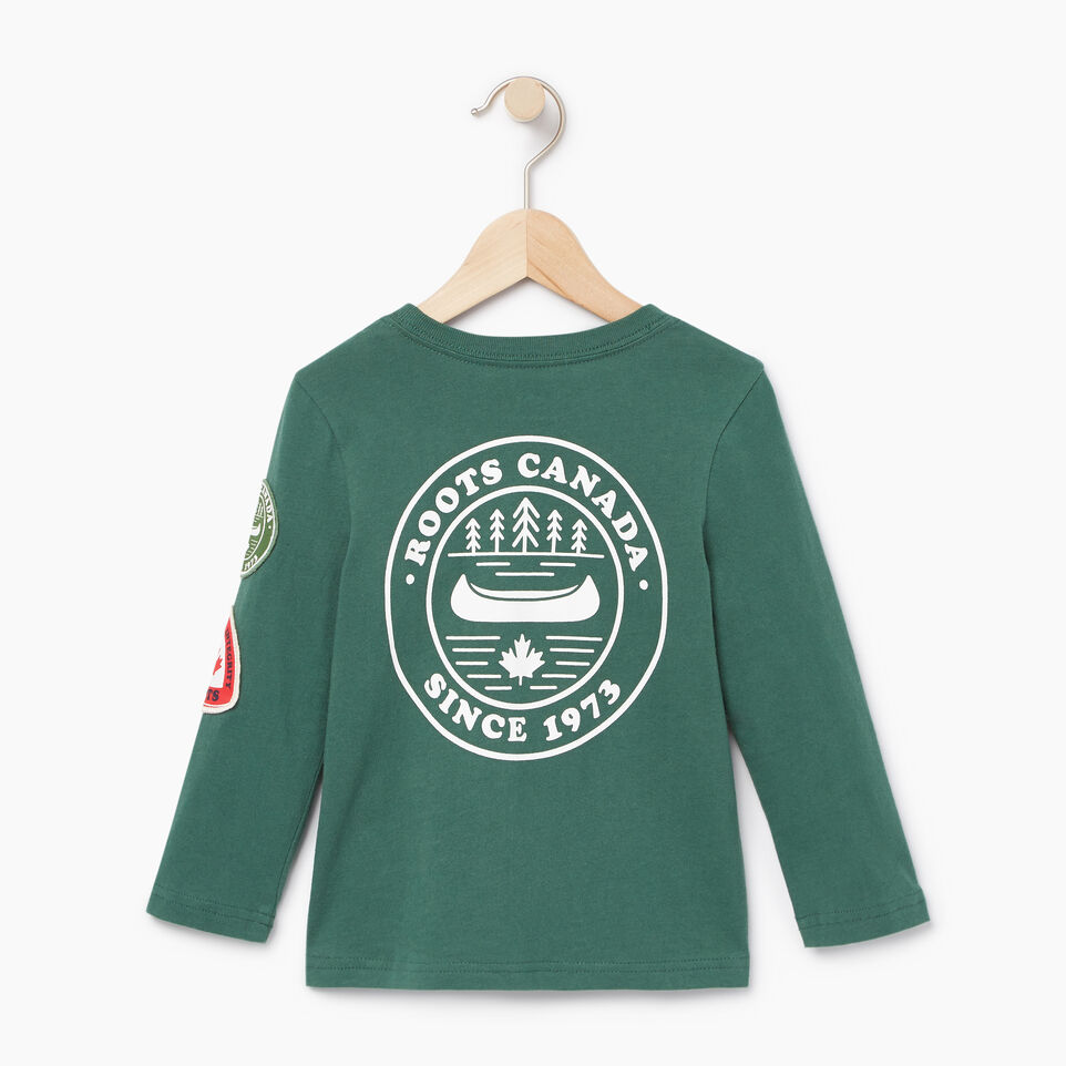 Roots-Kids New Arrivals-Toddler Paddle On T-shirt-Hunter Green-B