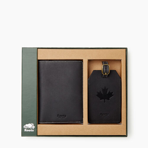 Roots-Leather  Handcrafted By Us Our Favourite New Arrivals-Roots Travel Box Set-Jet Black-A