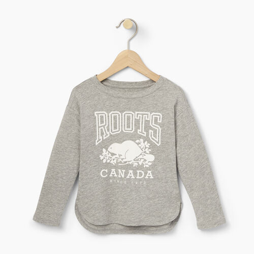 Roots-Kids Toddler Girls-Toddler Roots Classic Top-Grey Mix-A