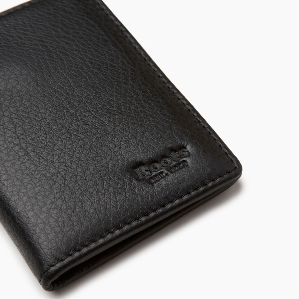 Roots-Leather  Handcrafted By Us Categories-Card Case With Id-Black-D