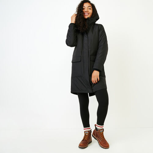 Roots-Women Categories-Roots Sustainable Parka-Black-A