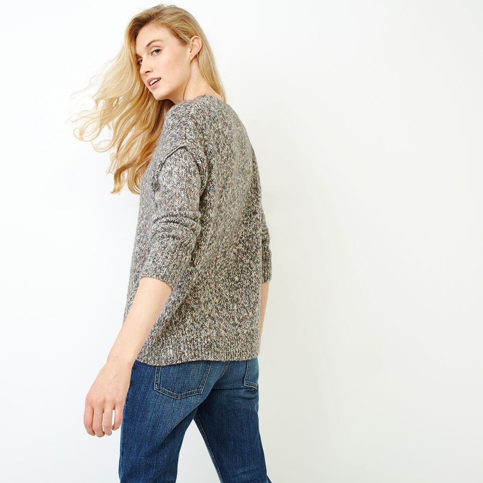 Roots-Women Sweaters & Cardigans-Moss Crew Sweater-Charcoal Mix-D