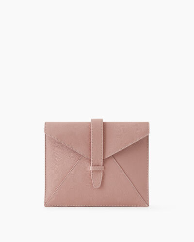 Roots-Leather New Arrivals-Tablet Sleeve Cervino-Pink Pearl-A