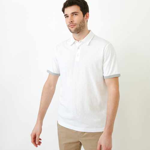 Roots-Men Shirts & Polos-Slub Jersey Polo-Crisp White-A