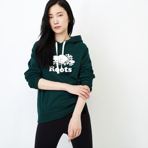 Roots-Women Our Favourite New Arrivals-Original Kanga Hoody-Varsity Green-A