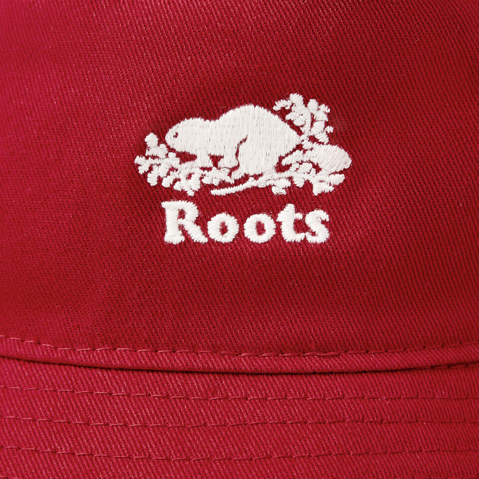 Roots-Clearance Kids-Toddler Canada Leaf Bucket Hat-Sage Red-E