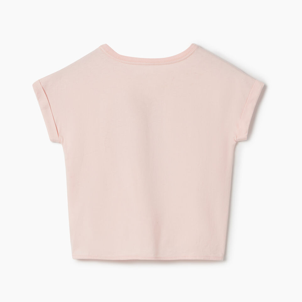 Roots-Kids Canada Collection-Girls Canada Tie T-shirt-English Rose-B