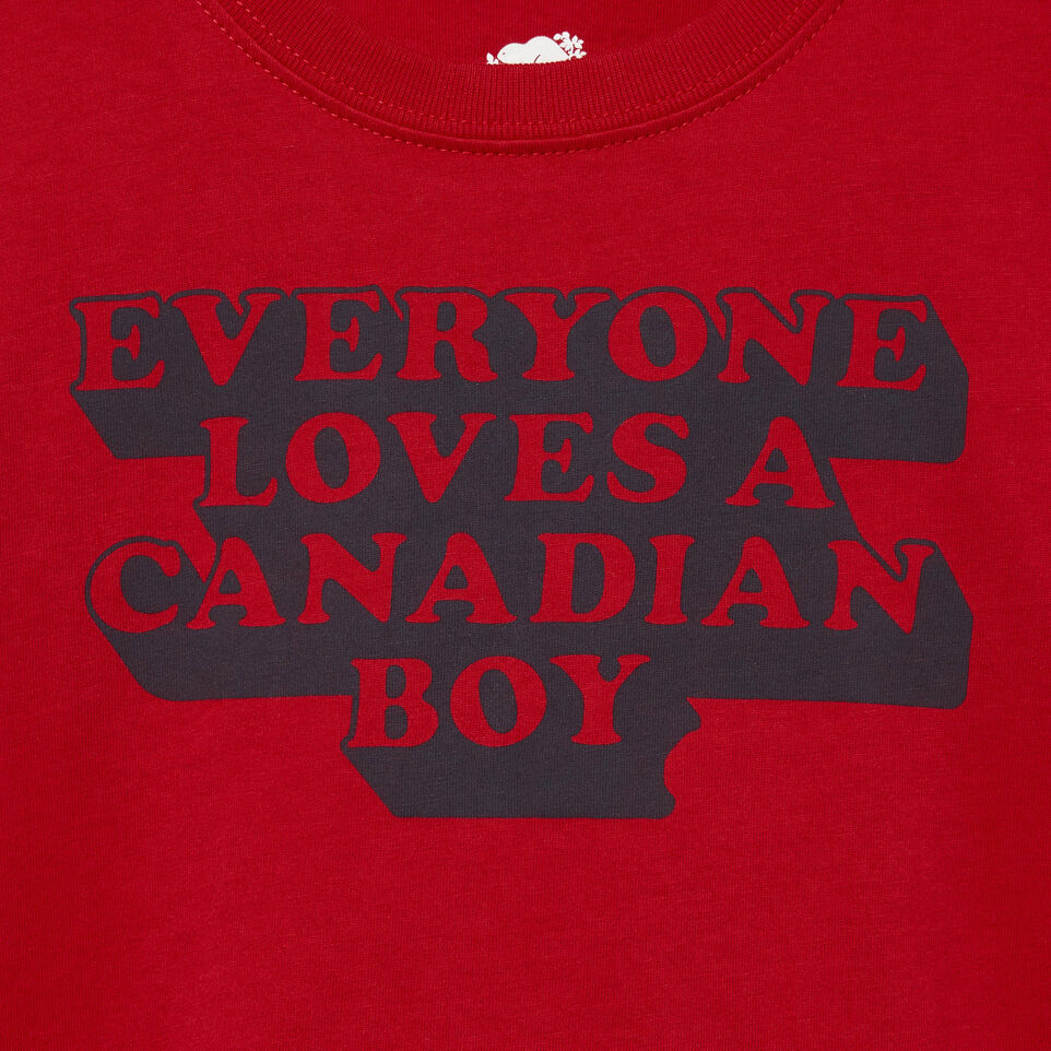Roots-Kids Canada Collection-Toddler Canadian Boy T-shirt-Sage Red-D